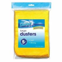 5pk DUZZIT MICRO SOFT MICROFIBRE MULTIPURPOSE CLOTHS TOWELS DUSTERS CLEANING